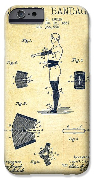 Elastic Bandage Patent From 1887 - Vintage IPhone Case by Aged Pixel