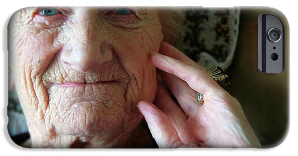 Elderly Woman IPhone Case by Hannah Gal
