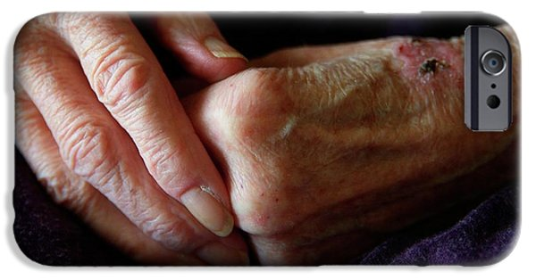 Elderly Woman's Hands IPhone Case by Hannah Gal