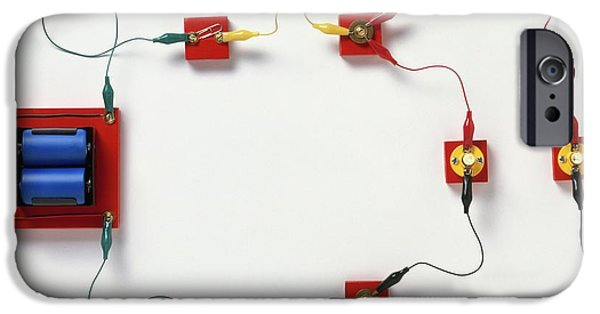 Electric Circuit Split Into Branches IPhone Case by Dorling Kindersley/uig