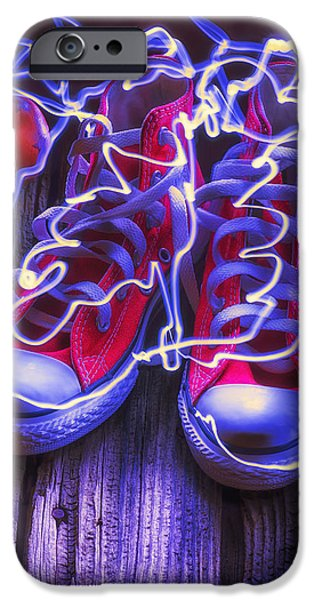 Electric Tennis Shoes  IPhone Case by Garry Gay
