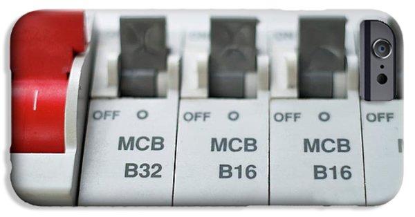 Electrical Circuit Breakers IPhone Case by Robert Brook