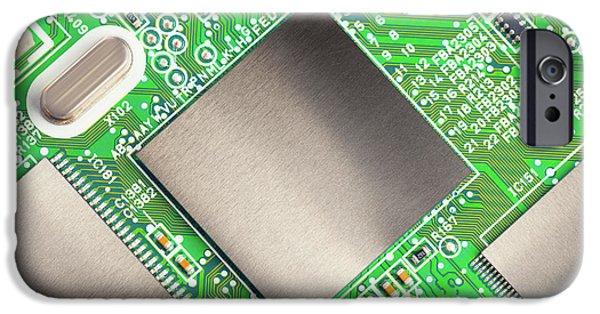 Electronic Printed Circuit Board IPhone Case by Wladimir Bulgar