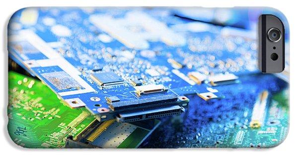 Electronic Printed Circuit Boards IPhone Case by Wladimir Bulgar