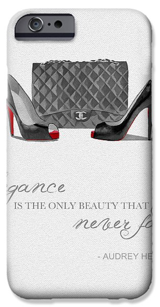 Elegance Never Fades Black And White IPhone 6s Case by Rebecca Jenkins