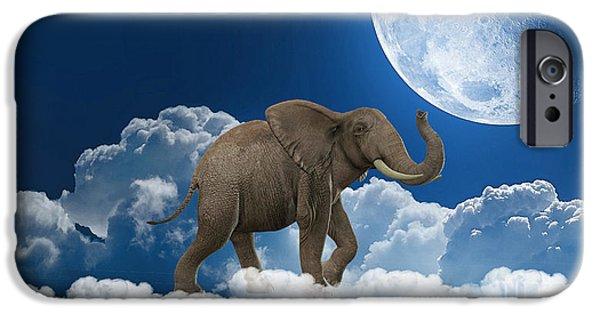 Elephant On Cloud 9 IPhone Case by Marvin Blaine