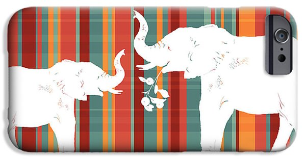 Elephants Share IPhone Case by Alison Schmidt Carson