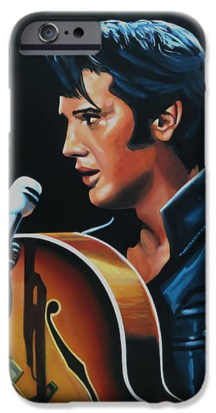 Elvis Presley 3 Painting IPhone Case by Paul Meijering