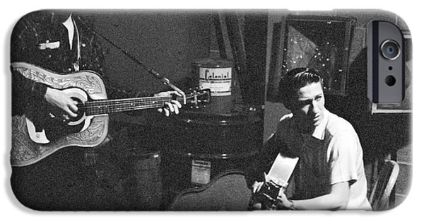Elvis Presley And Scotty Moore 1956 IPhone Case by The Phillip Harrington Collection