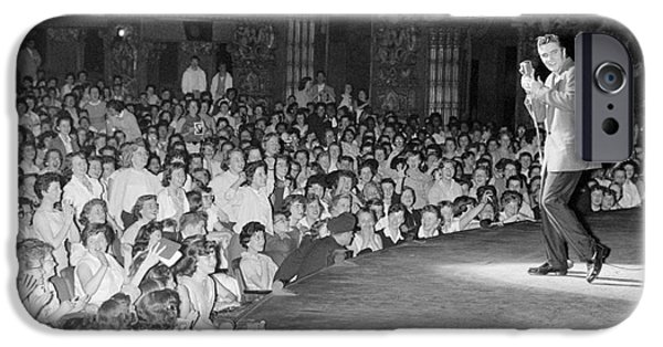 Elvis Presley In Concert At The Fox Theater Detroit 1956 IPhone Case by The Phillip Harrington Collection