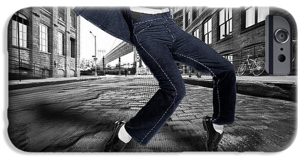 Elvis Presley In New York City Street IPhone Case by Tony Rubino
