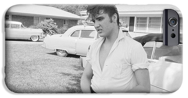 Elvis Presley With His Cadillacs IPhone Case by The Phillip Harrington Collection