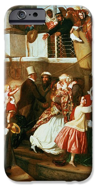 Embarkation Scene IPhone Case by George Tuson