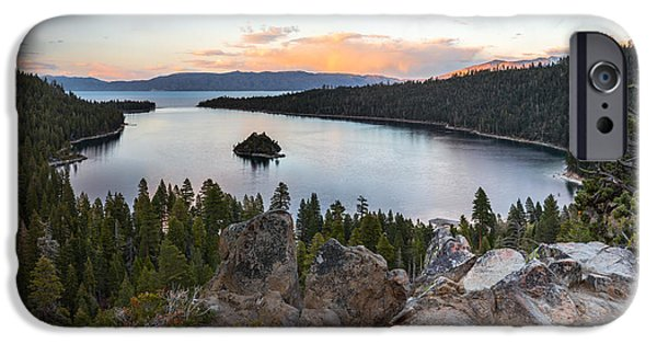 Emerald Bay Lake Tahoe IPhone Case by Leland D Howard