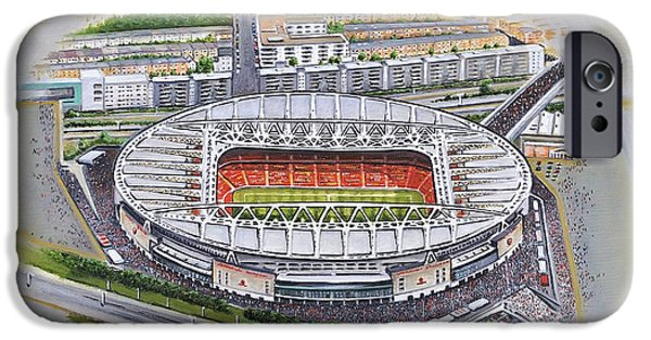 Emirates Stadium - Arsenal IPhone Case by D J Rogers