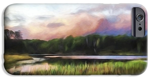 End Of The Day - Landscape Art IPhone Case by Jordan Blackstone