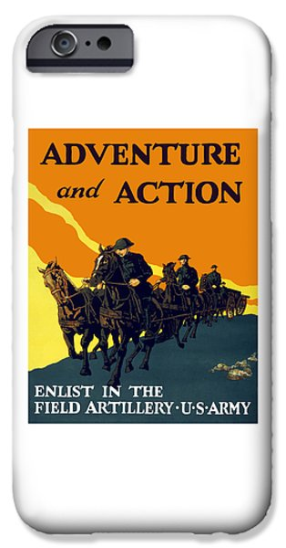 Enlist In The Field Artillery IPhone Case by War Is Hell Store