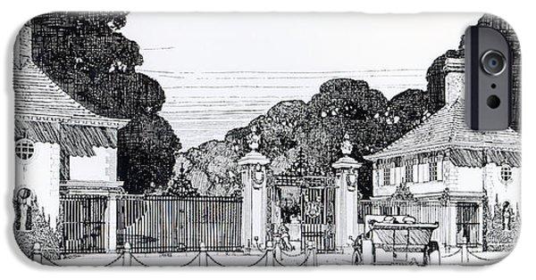 Entrance To Brooklandwood IPhone Case by Thomas Hayton Mawson