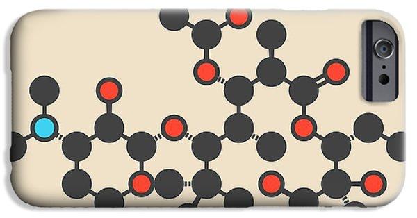 Erythromycin Antibiotic Drug Molecule IPhone Case by Molekuul