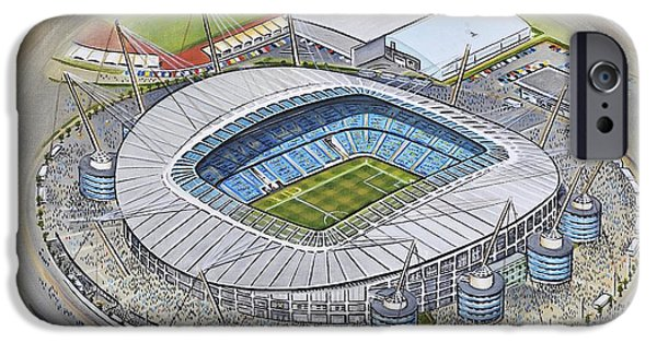 Etihad Stadium - Manchester City IPhone Case by D J Rogers