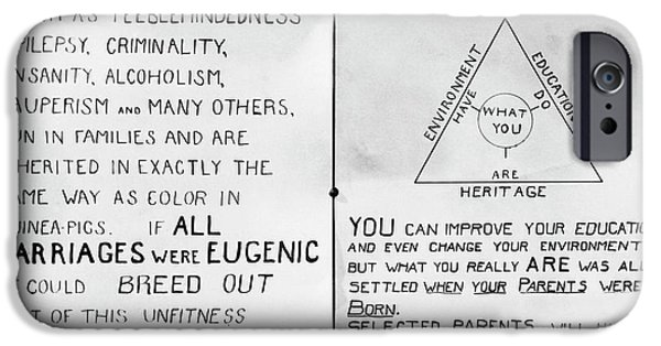 Eugenics Posters At Public Fair IPhone Case by American Philosophical Society
