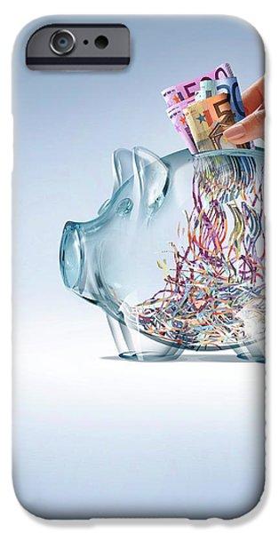 Euro Savings Crisis IPhone Case by Smetek