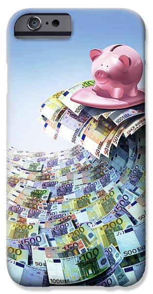 Euro Savings IPhone Case by Smetek