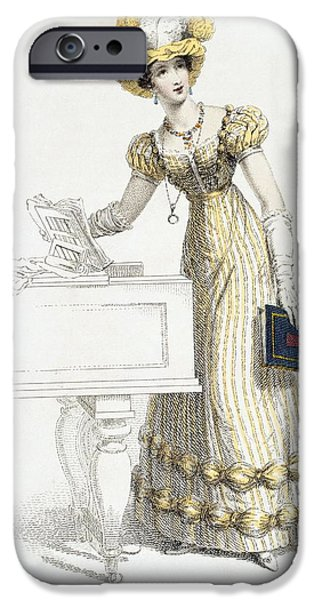 Evening Dress, Fashion Plate IPhone Case by English School