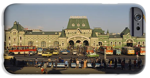 Facade Of A Railroad Station IPhone 6s Case by Panoramic Images