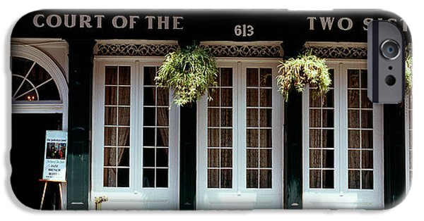 Facade Of A Restaurant, Court Of Two IPhone Case by Panoramic Images
