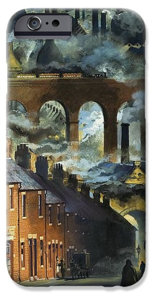 Factory Chimneys IPhone Case by Andrew Howat
