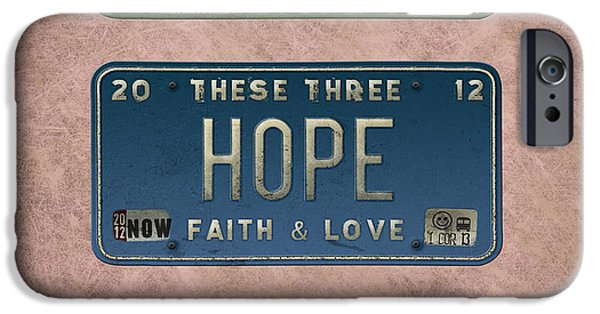 Faith Hope Love IPhone Case by Cheryl Young