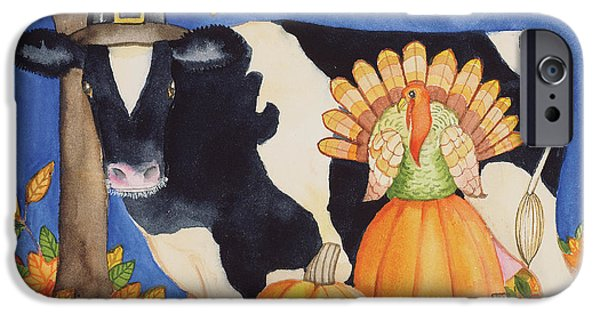 Fall Cow IPhone 6s Case by Kathleen Parr Mckenna