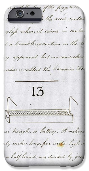 Faraday's Notes On Tatum's Lectures IPhone Case by Royal Institution Of Great Britain