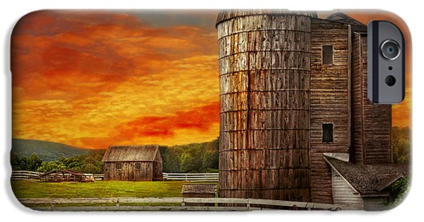 Farm - Barn - Welcome To The Farm  IPhone Case by Mike Savad
