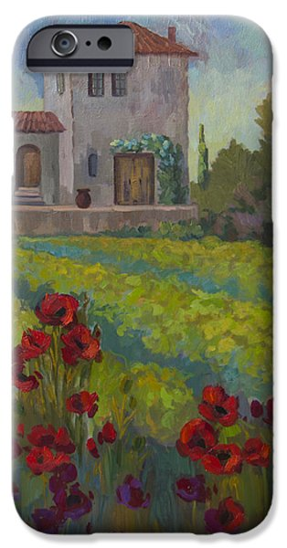 Farm In Sienna IPhone Case by Diane McClary