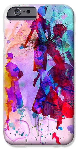 Fashion Models 6 IPhone Case by Naxart Studio