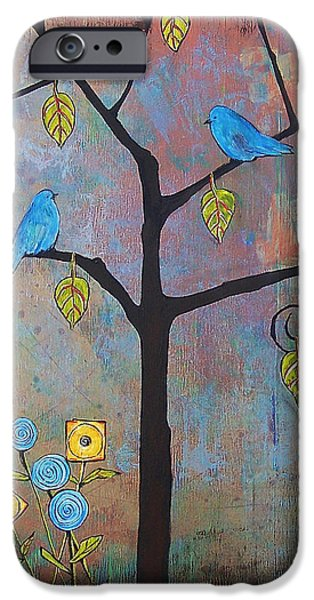 Feathered Friends IPhone Case by Blenda Studio