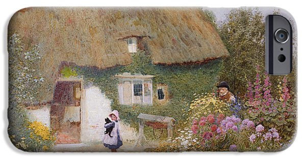 Feeding The Pigeons IPhone Case by Arthur Claude Strachan