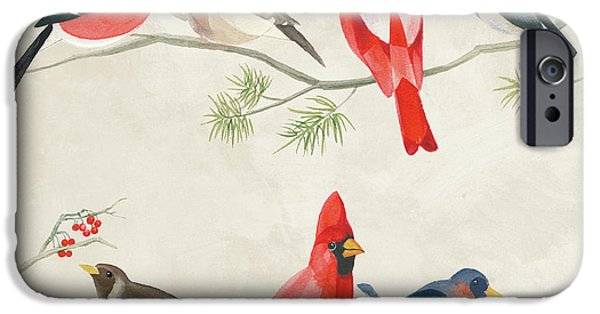 Festive Birds I IPhone 6s Case by Danhui Nai