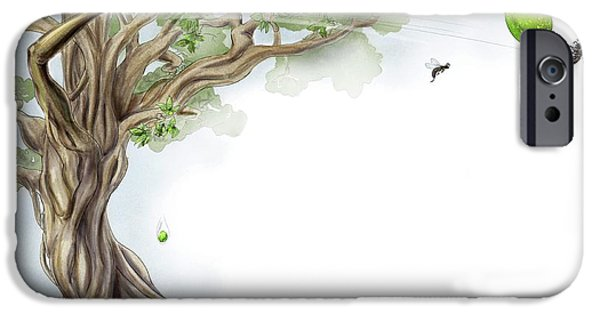 Fig Tree And Wasp IPhone Case by Nicolle R. Fuller