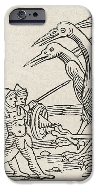 Fight Between Pygmies And Cranes. A Story From Greek Mythology IPhone 6s Case by English School