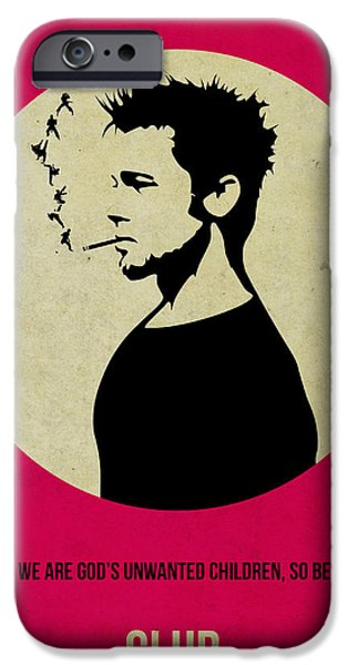 Fight Club Poster IPhone Case by Naxart Studio