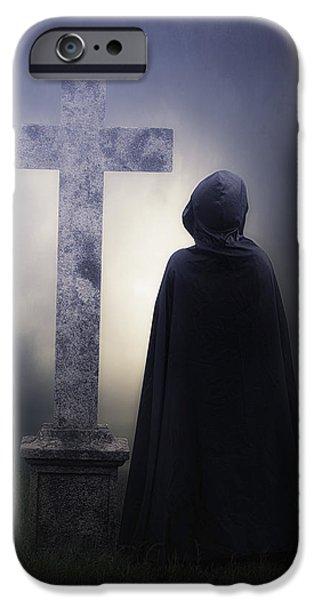 Figure On Graveyard IPhone Case by Joana Kruse