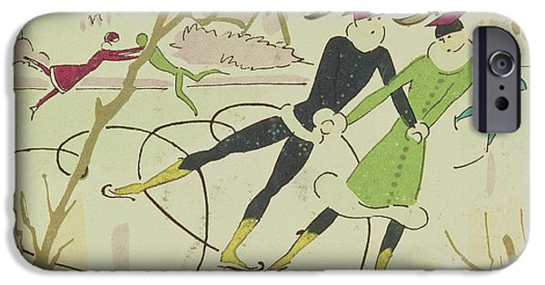 Figure Skating  Christmas Card IPhone Case by American School