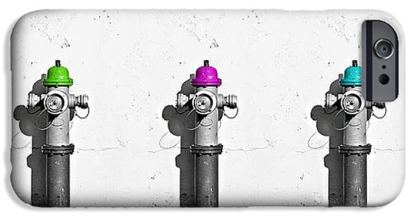 Fire Hydrants IPhone Case by Dia Karanouh