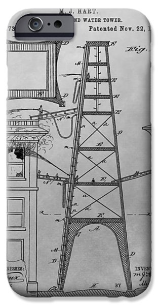 Firefighting Patent Drawing IPhone Case by Dan Sproul