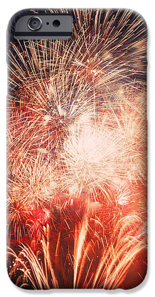 Fireworks Display Against Night Sky IPhone Case by Panoramic Images