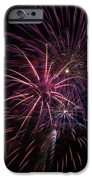 Fireworks Display  Astoria, Oregon IPhone Case by Robert L. Potts