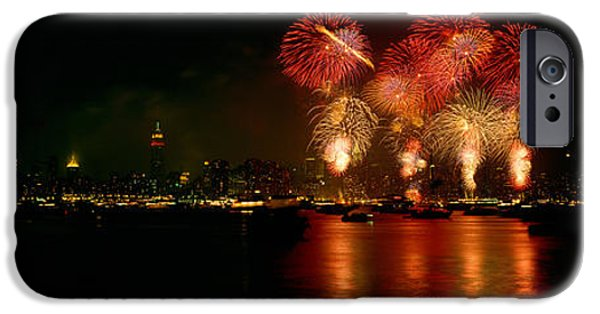 Fireworks Display At Night IPhone Case by Panoramic Images